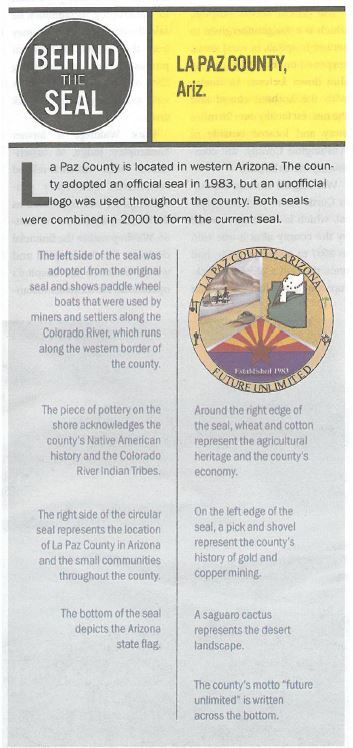 "La Paz County ""Behind the Seal"" NACo County News 2019 06 24"
